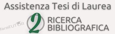 Ricerca bibliografica tesi di laurea - FarmTutor